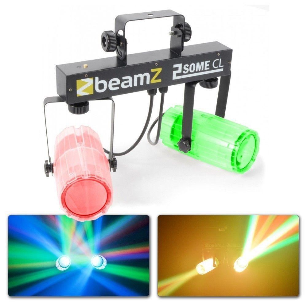 Dagaanbieding: BeamZ 2-Some Lichtset 2x 57 RGBW LED's – Transparant