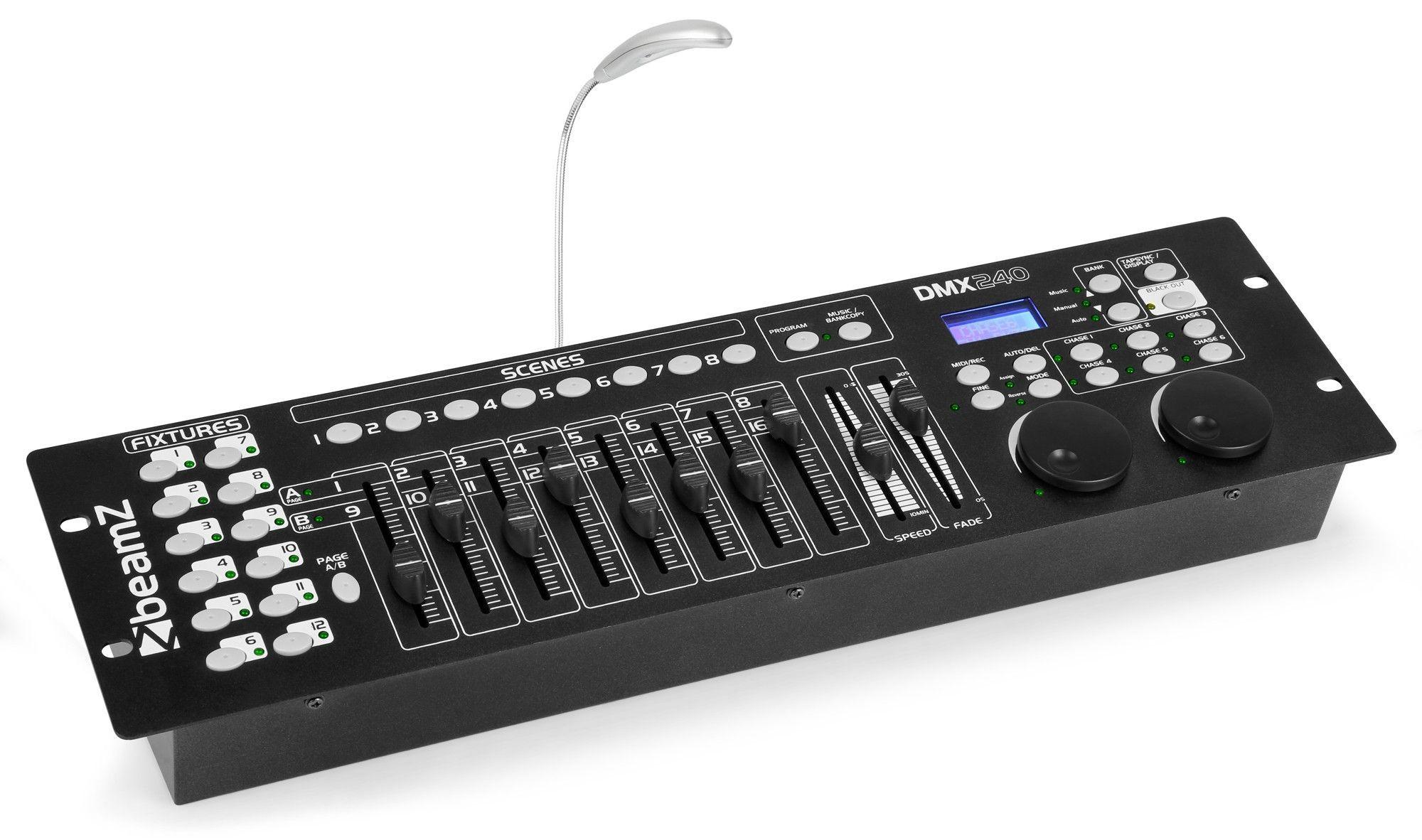 Afbeelding van 2e keus - BeamZ DMX240 192 kanaals DMX Controller voor 12 fixtures...