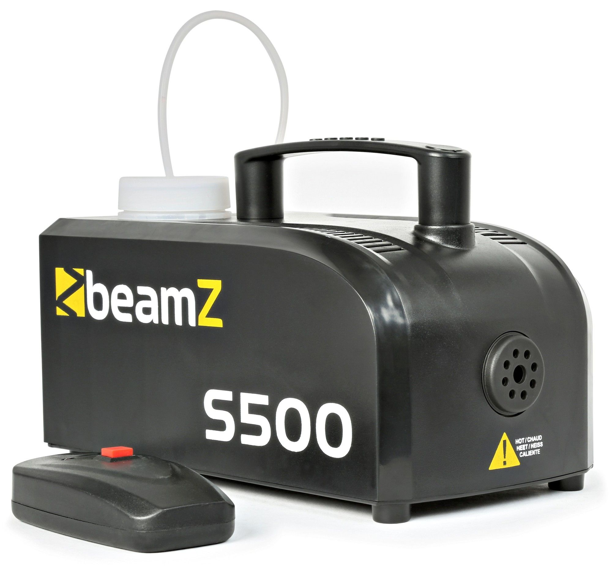 Compacte kunststof rookmachine S500 met gratis vloeistof van BeamZ