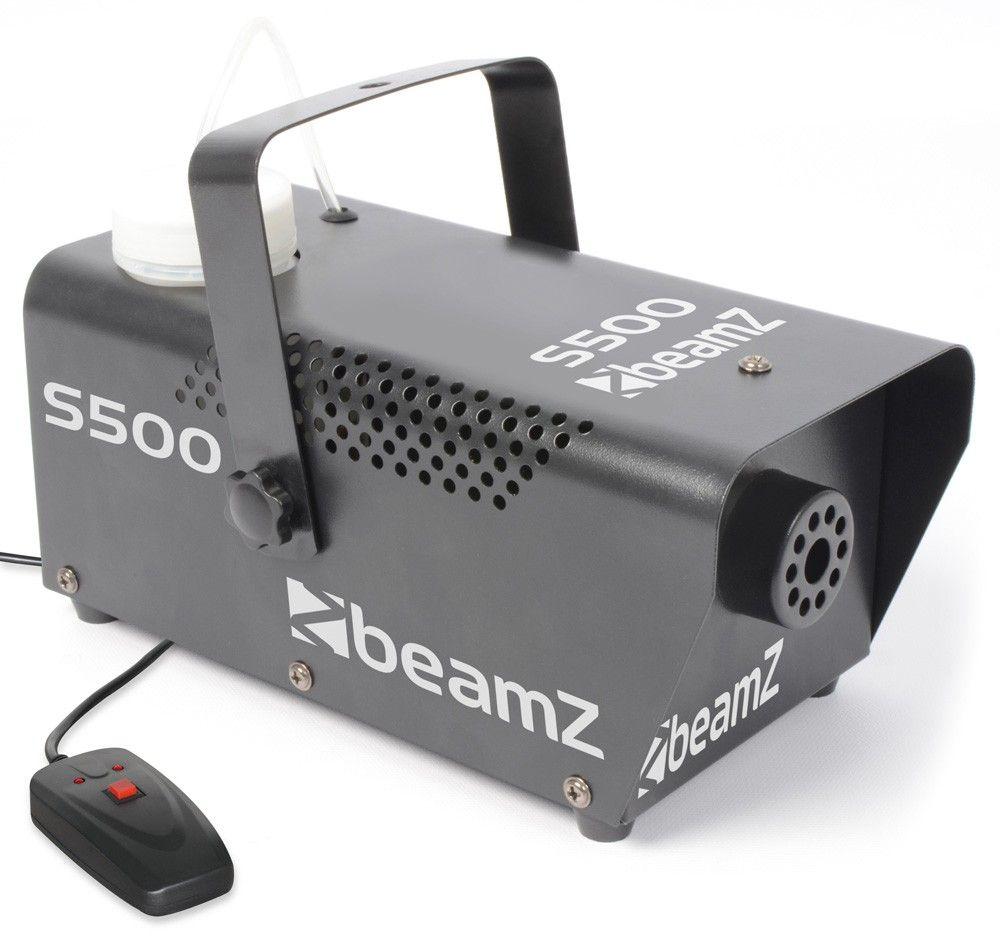 Afbeelding van BeamZ Compacte metalen Rookmachine S500 met gratis rookvloeistof...