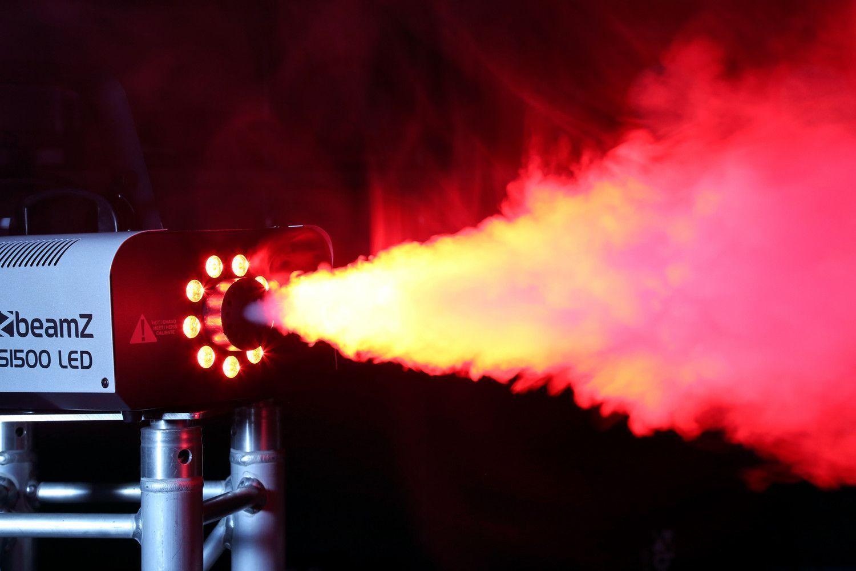BeamZ S1500LED rookmachine met RGB LED-verlichting