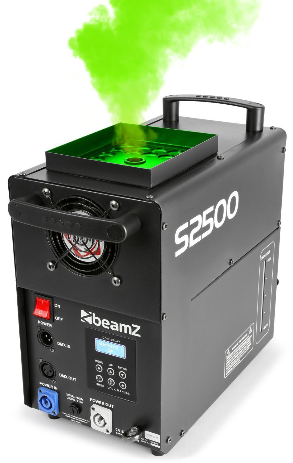 BeamZ S2500 Rookmachine met LED effect 24x10W leds