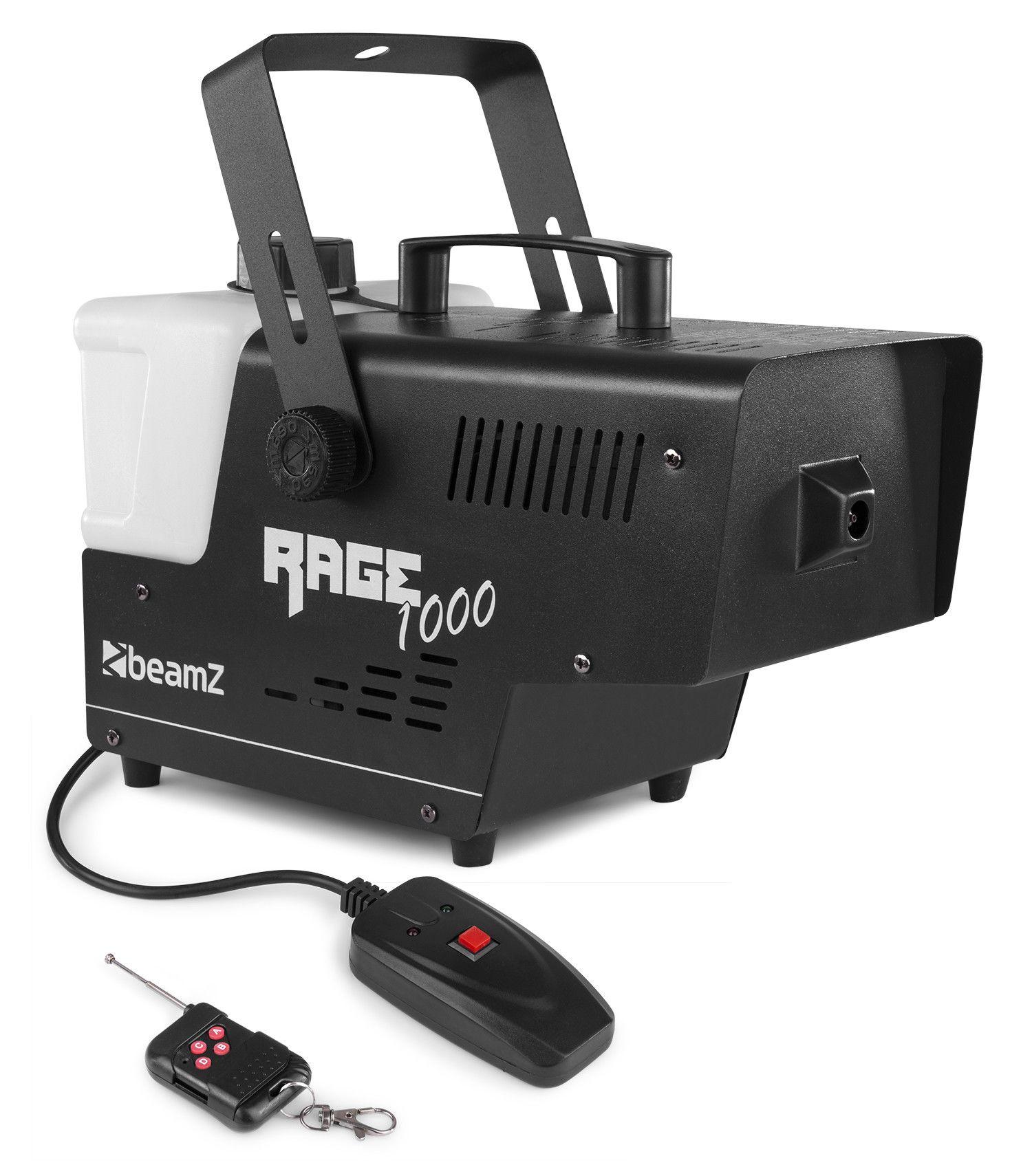 BeamZ RAGE1000 rookmachine met draadloze afstandsbediening