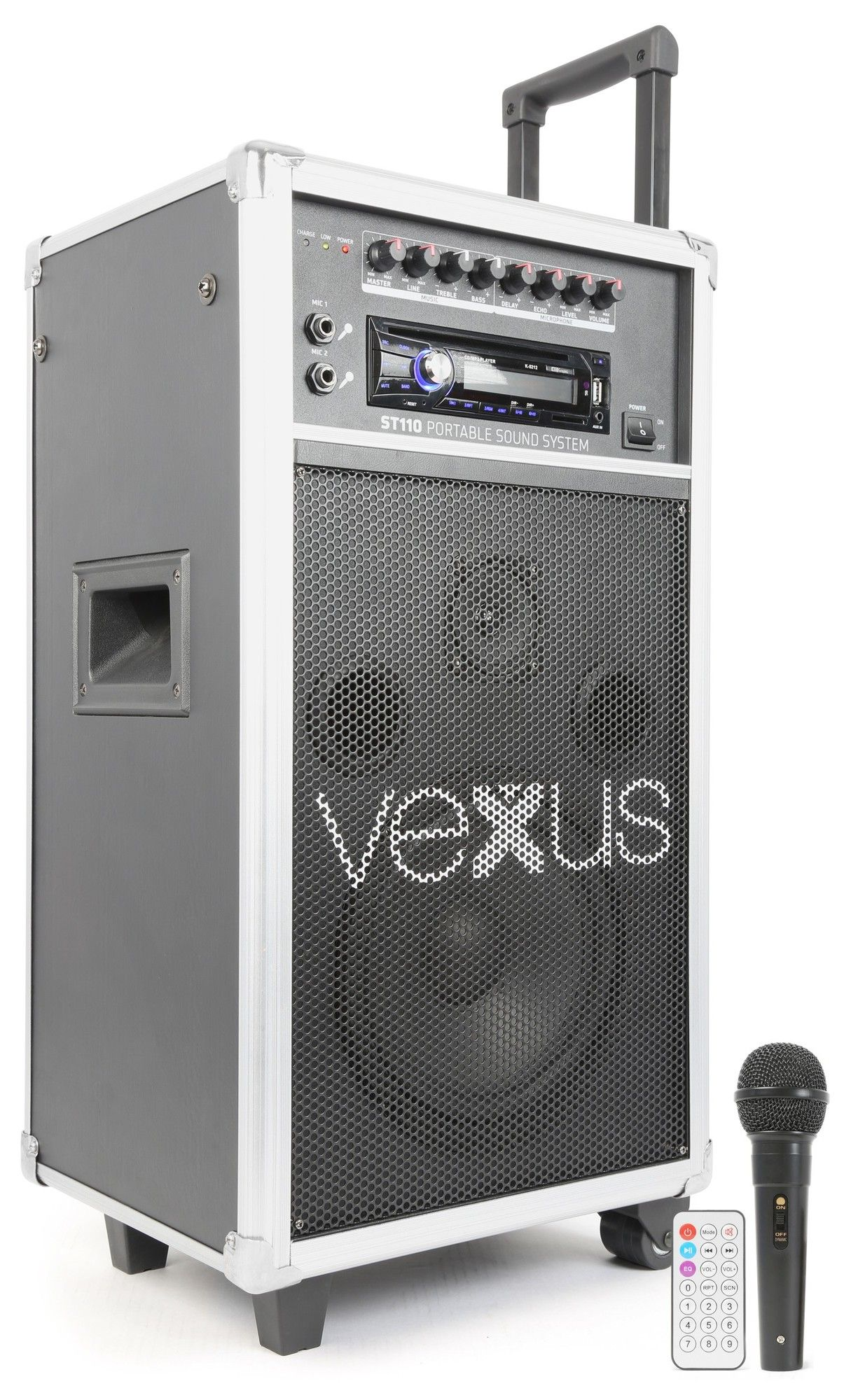 """Afbeelding van 2e keus - Vexus ST110 mobiele 8"""" geluidsinstallatie op accu met CD, US..."""