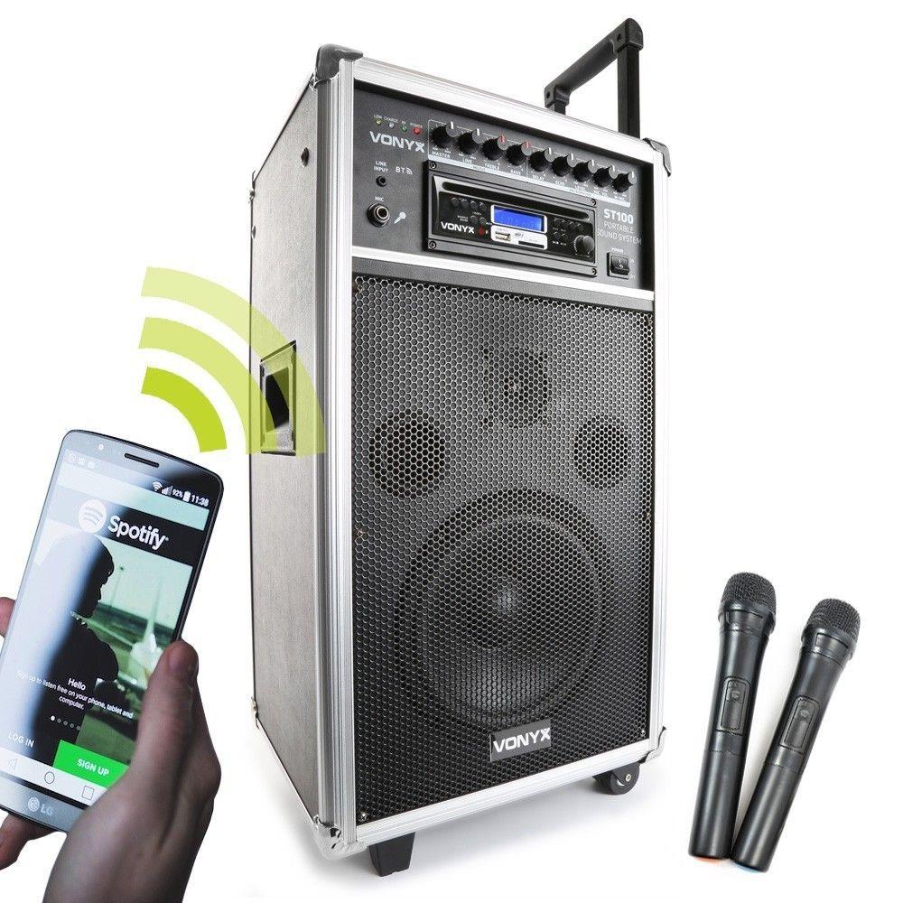 Afbeelding van 2e keus - Vonyx ST100 mobiele geluidsinstallatie met o.a. Bluetooth...