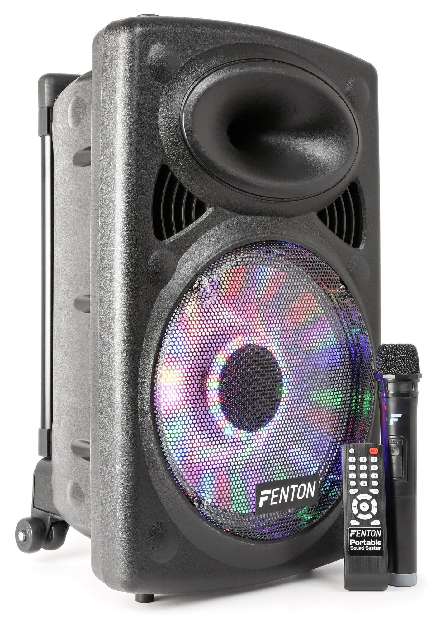 Afbeelding van 2e keus - Fenton FPS12 Karaoke Speaker set 12 inch met bluetooth en dr...