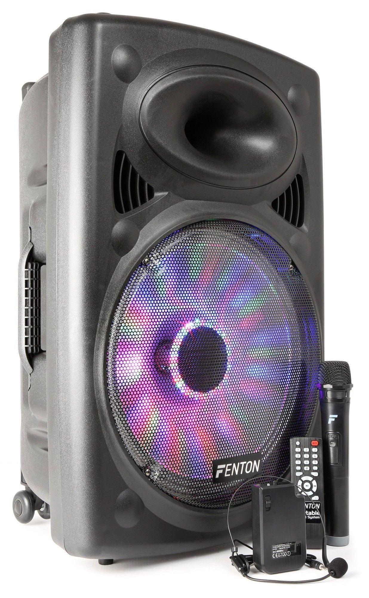 """Afbeelding van Fenton FPS15 Mobiele geluidsinstallatie 15"""" met bluetooth en draadloze..."""