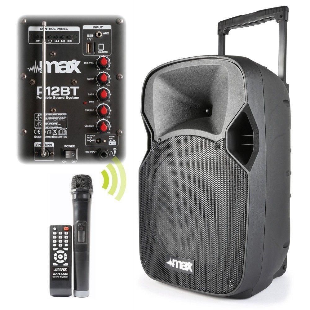Afbeelding van 2e keus - MAX P12BT Mobiele speaker 12 inch met bluetooth...