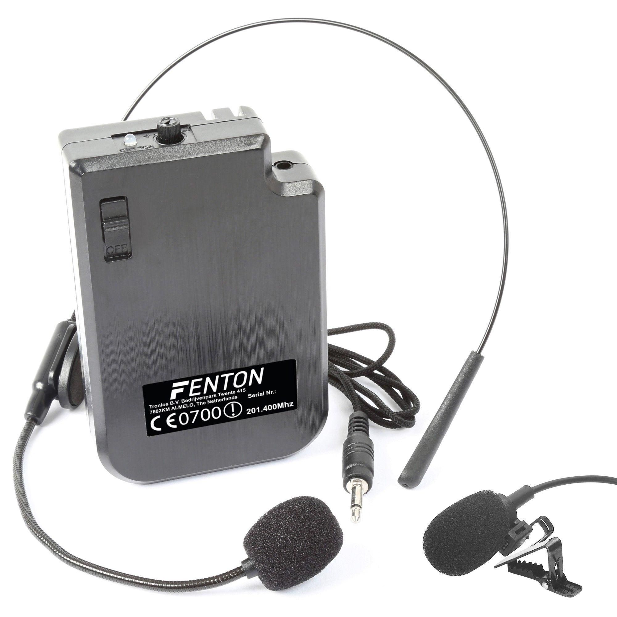 Fenton headset 201.400MHz voor draadloze microfoon systemen