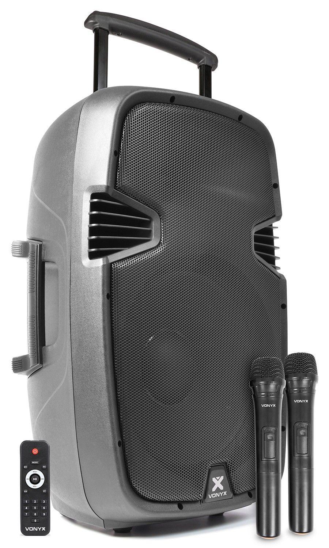 """Afbeelding van 2e keus - Vonyx SPJ-PA915 Mobiele speaker 15"""" 700W op accu met Bluetoo..."""