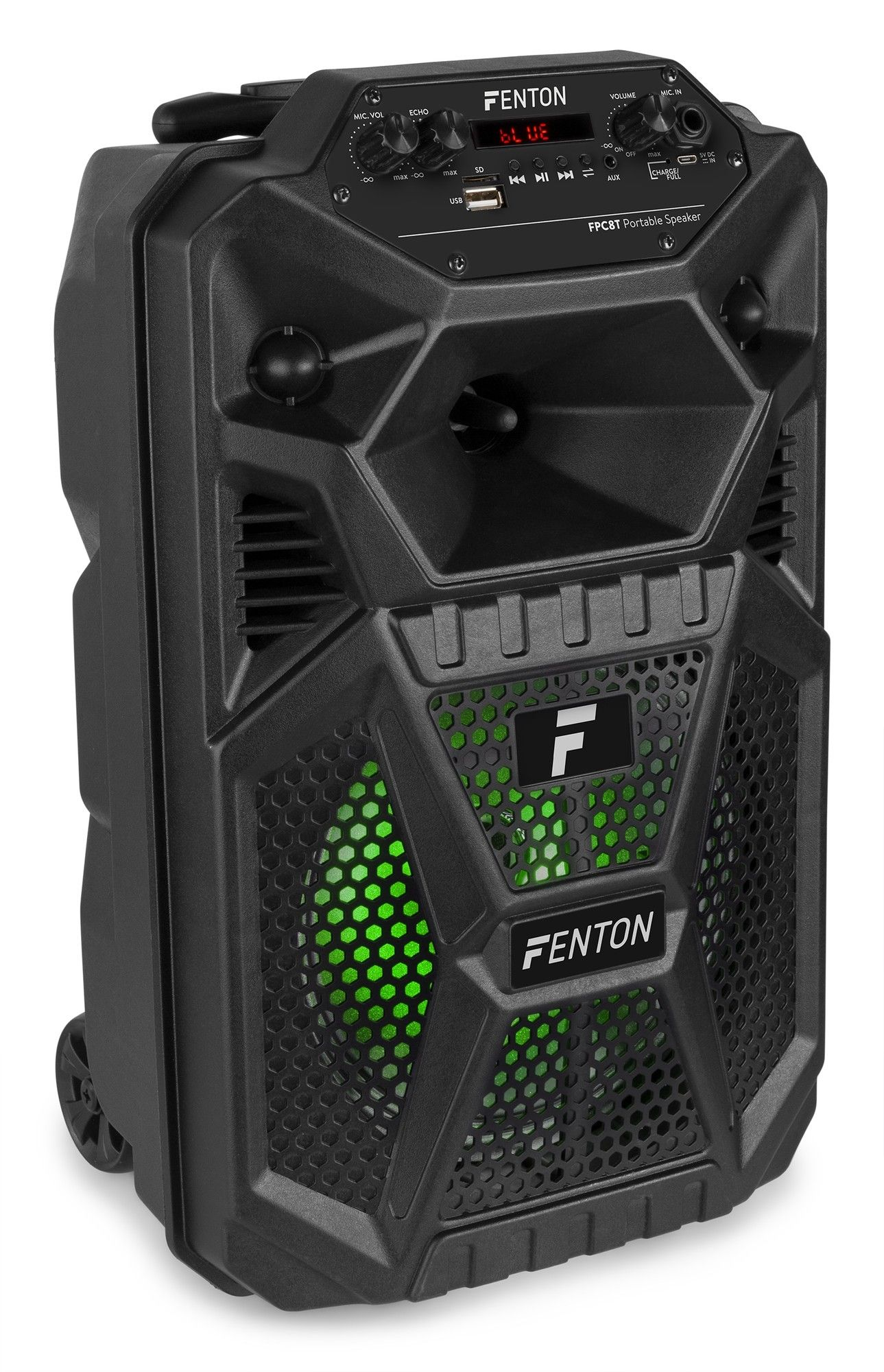 """Afbeelding van Fenton FPC8T Portable Party Speaker Rechargeable 8"""" with Trolley..."""