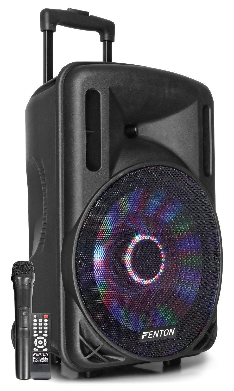 "Afbeelding van Fenton FT12LED karaoke speaker 700W 12"" met LED verlichting..."