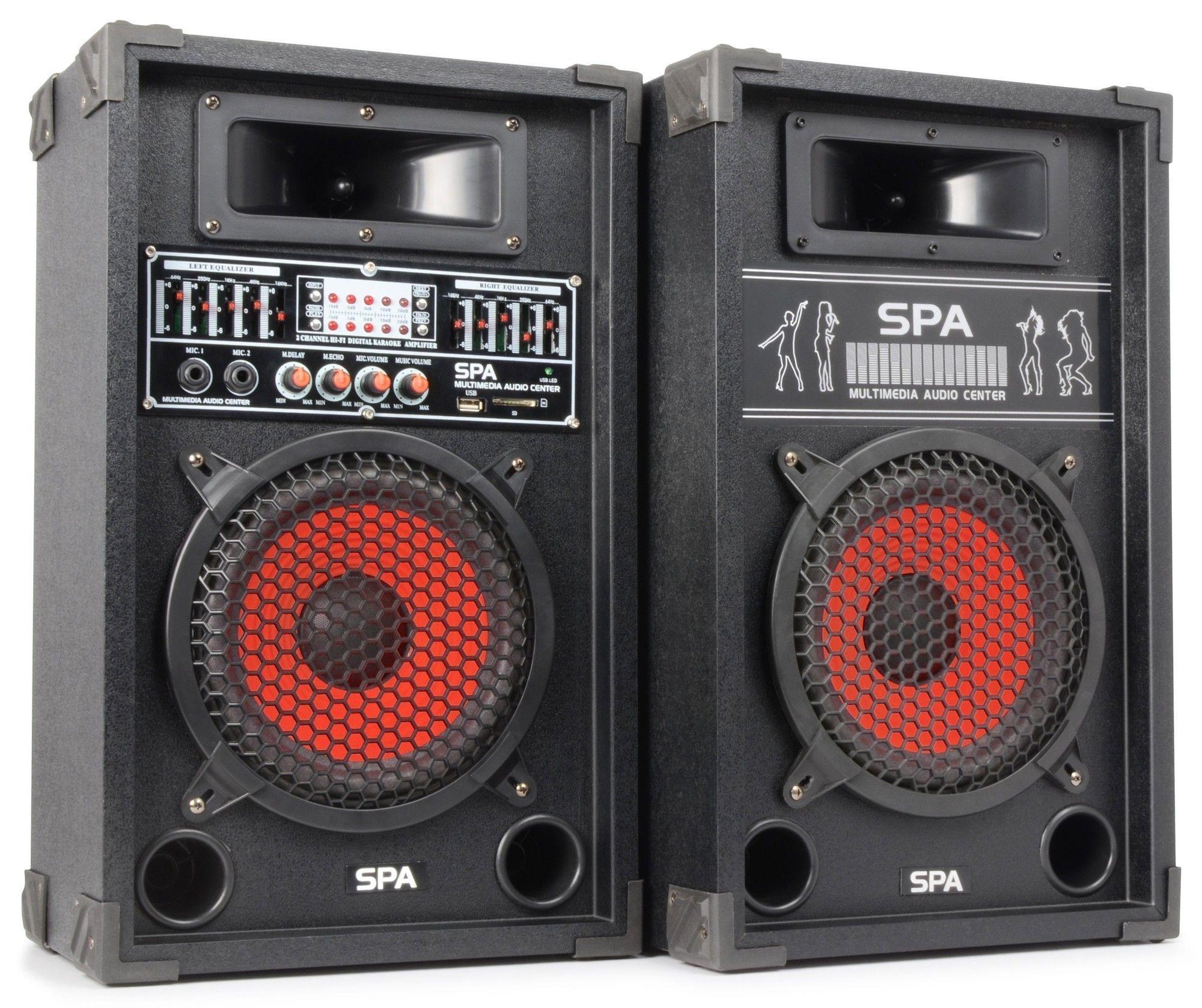 Spa800 Actieve Pa Karaoke Luidspreker Set 8 600w Met Usb Mp3 Skytec kopen
