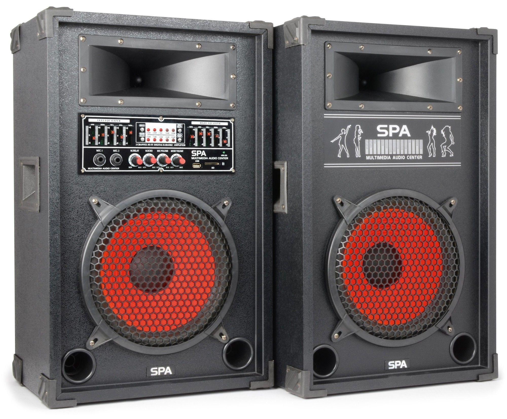 Spa1000 Actieve Pa Karaoke Luidspreker Set 10 800w Met Usb Mp3 Skytec kopen