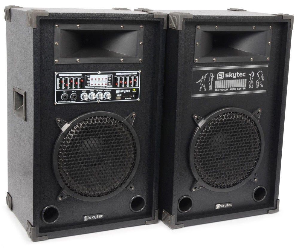 Spa 1000 Actieve Pa Karaoke Luidspreker Set 10 Inch 800w Met Usb Mp3 Skytec kopen
