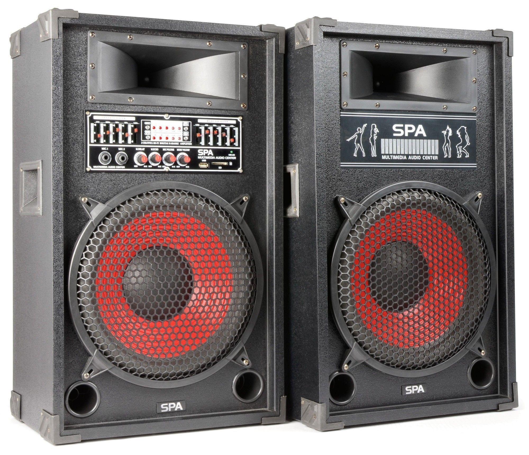 Spa1200 Actieve Pa Karaoke Luidspreker Set 12 1200w Met Usb Mp3 Skytec kopen