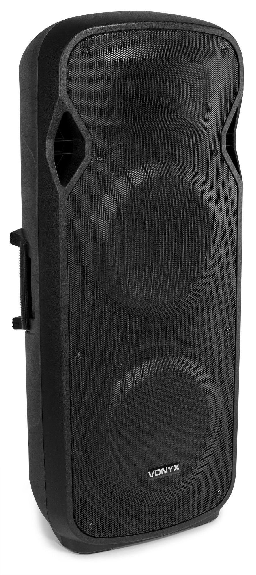 """Afbeelding van 2e keus - Vonyx AP215ABT Actieve Speaker 2x 15"""" 1200W met Bluetooth..."""