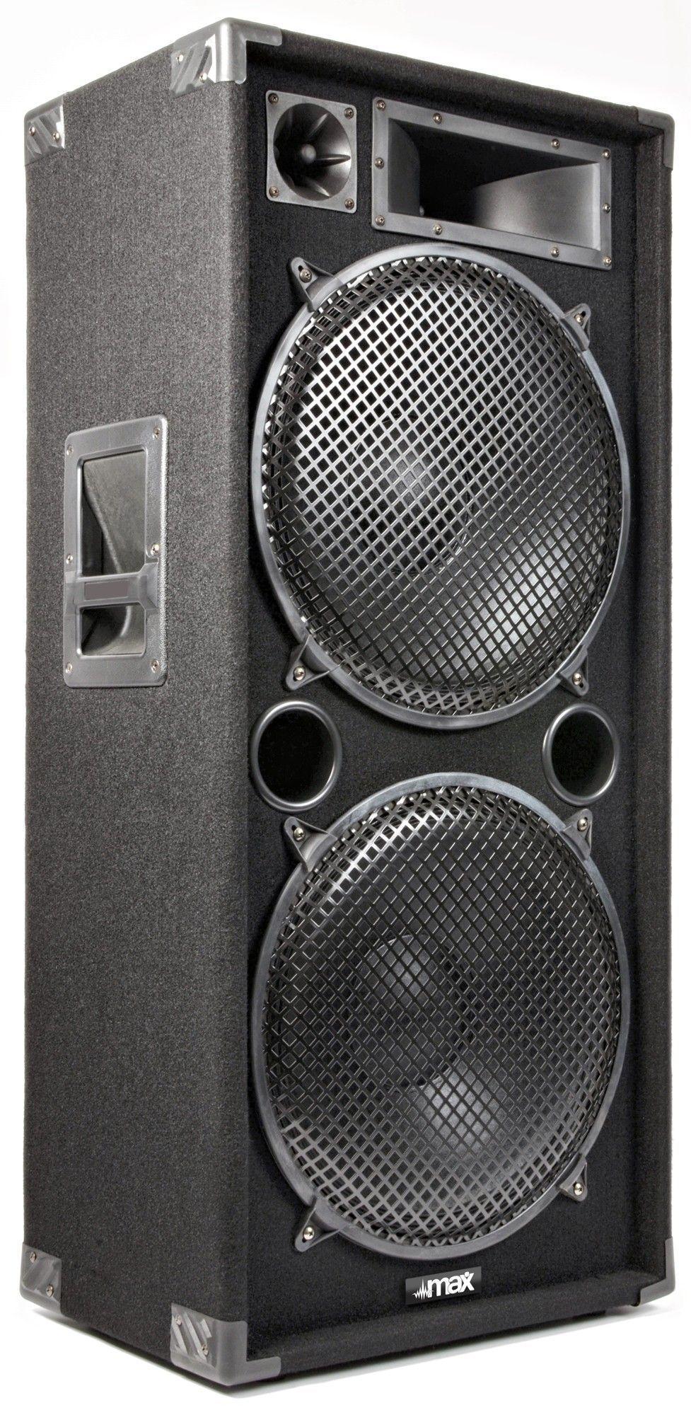"""MAX215 disco speaker 2x 15"""" 2000Watt thumbnail"""