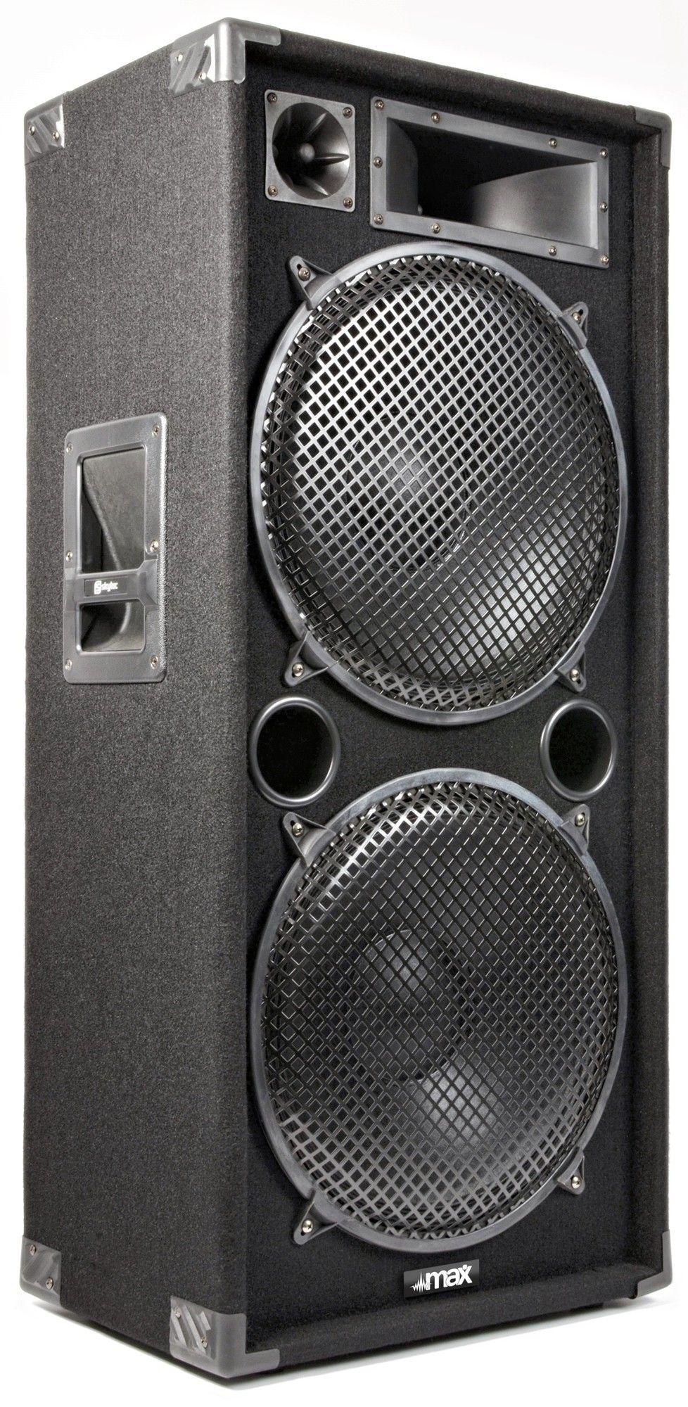 "Afbeelding van 2e keus - MAX Disco Speaker MAX215 2000W 2x 15""..."