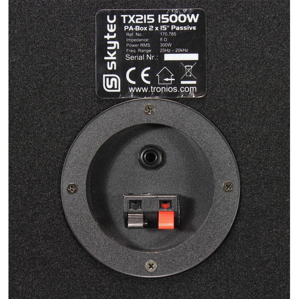 SkyTec TX215 Speaker 2x 15 inch 1500 watt thumbnail