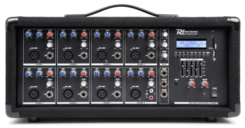 Power Dynamics PDM-C805A 8 kanaals mixer met versterker