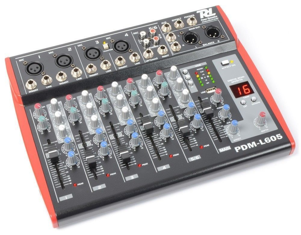 Power Dynamics PDM-L605 Live Mixer