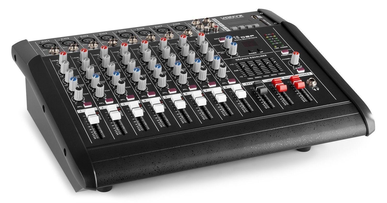 Afbeelding van 2e keus - Vonyx AM8A 8-kanaals muziekmixer met ingebouwde 1000W verste...