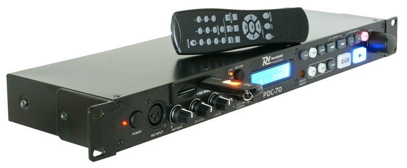 Power Dynamics PDC-70 Professionele USB / SD MP3 Speler met Mic ingang