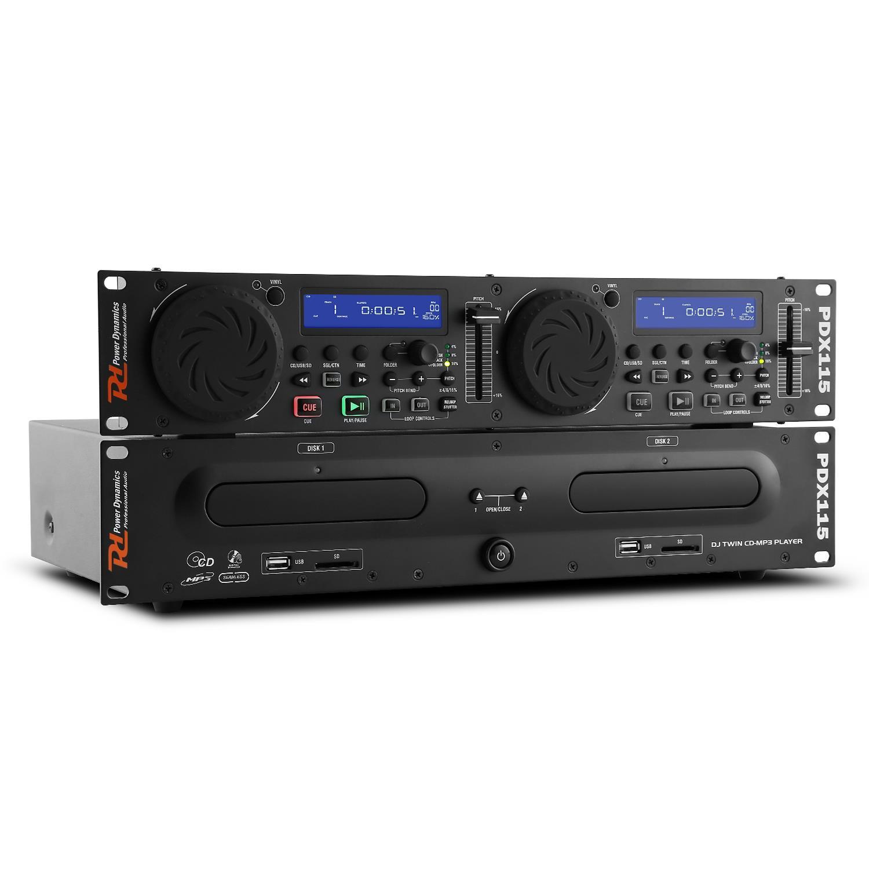 Power Dynamics PDX115 dubbele CD/USB/SD/MP3 speler