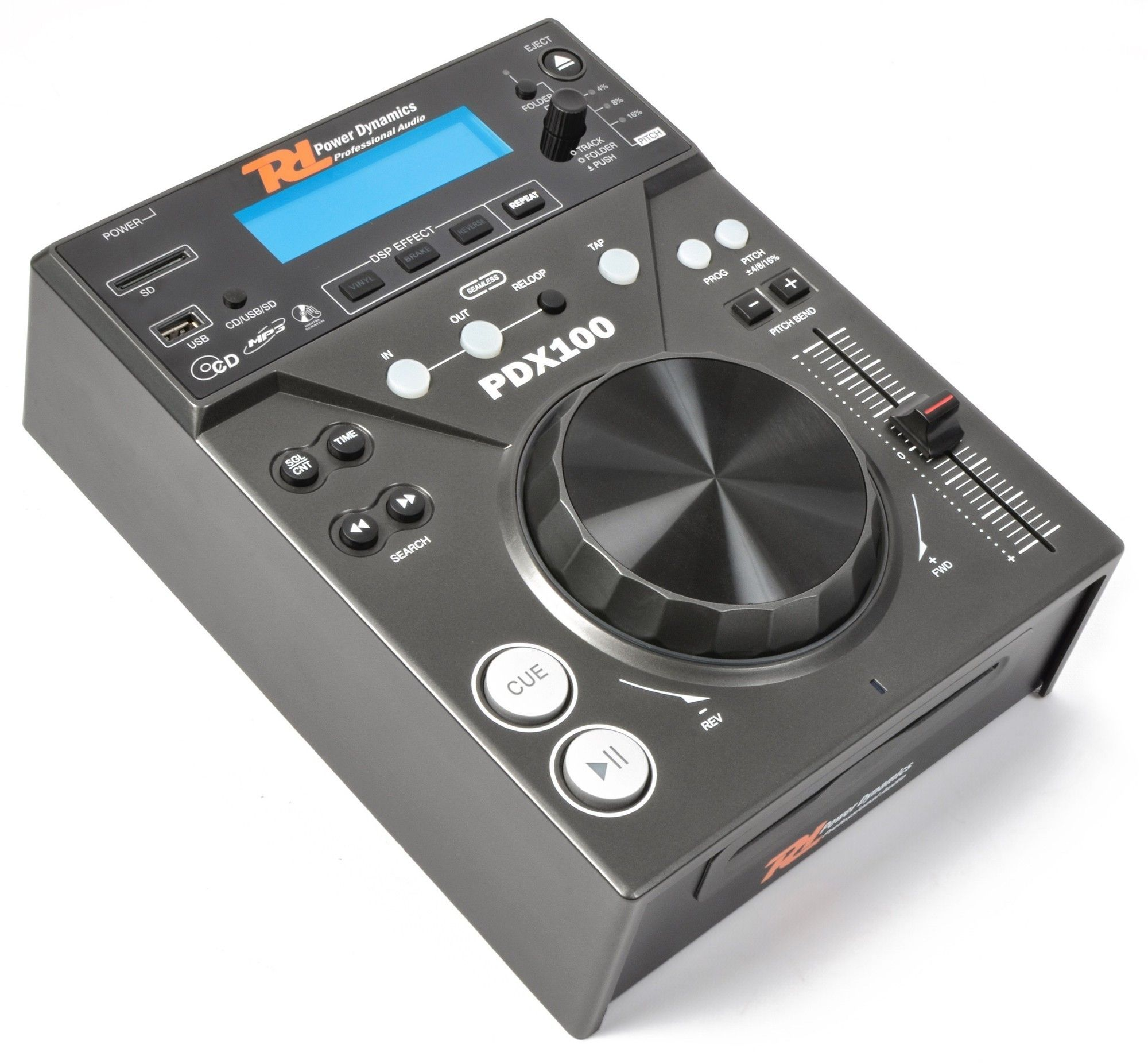 Power Dynamics PDX100 Single Top CD/USB/SD/MP3 speler