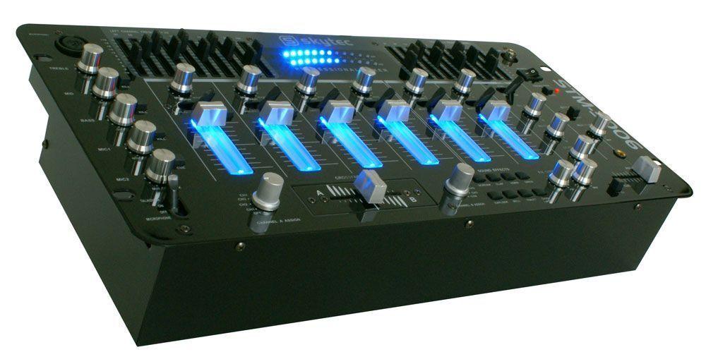 SkyTec STM-3006 5 Kanaals DJ mengpaneel met Equalizer - Fx - Echo