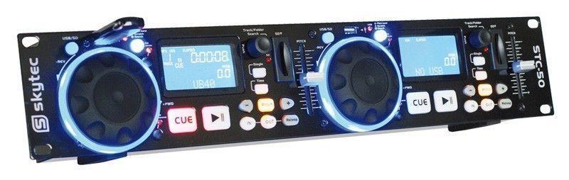 SkyTec STC-50 Dubbele DJ MP3 USB / SD Media Speler