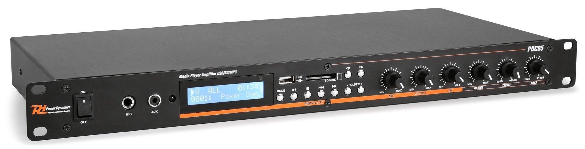 Afbeelding van 2e keus - Power Dynamics PDC85 Bluetooth / USB / SD Mediaspeler met ve...