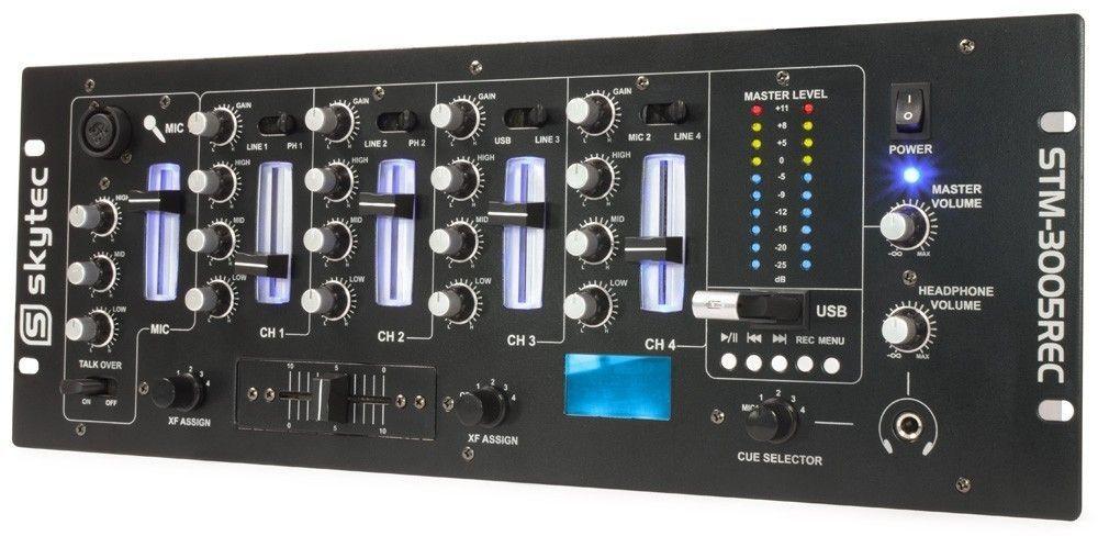 Afbeelding van 2e keus - SkyTec STM-3005REC 4-Kanaals Mixer EQ USB/MP3 Record...