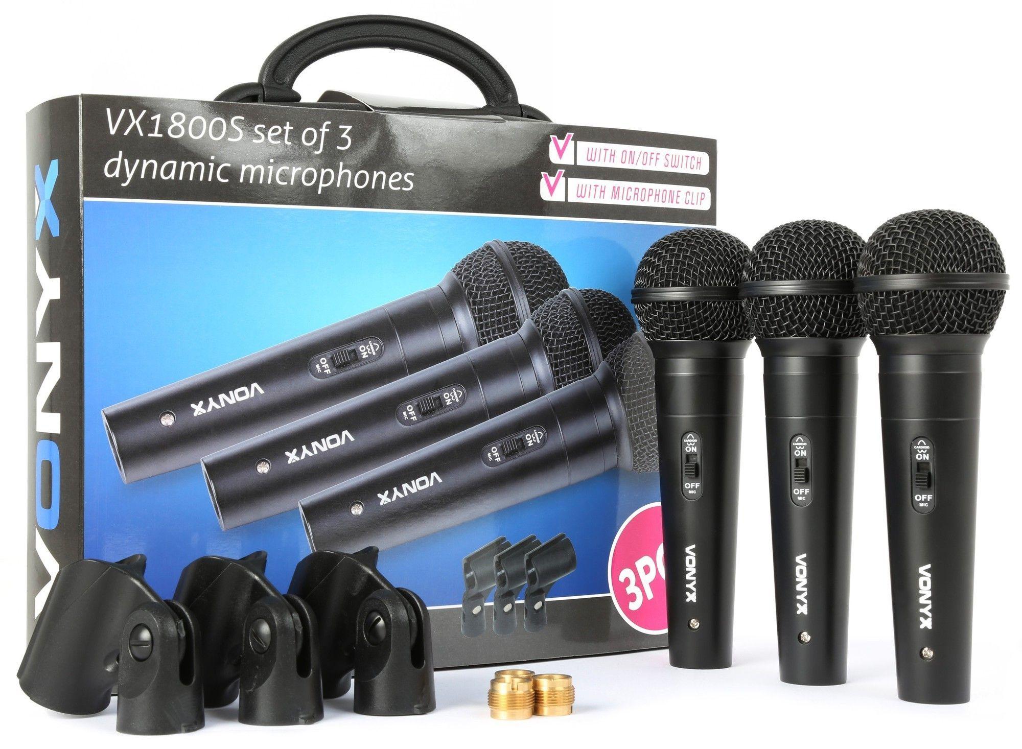 Vonyx VX1800S Dynamische microfoonset van 3 microfoons