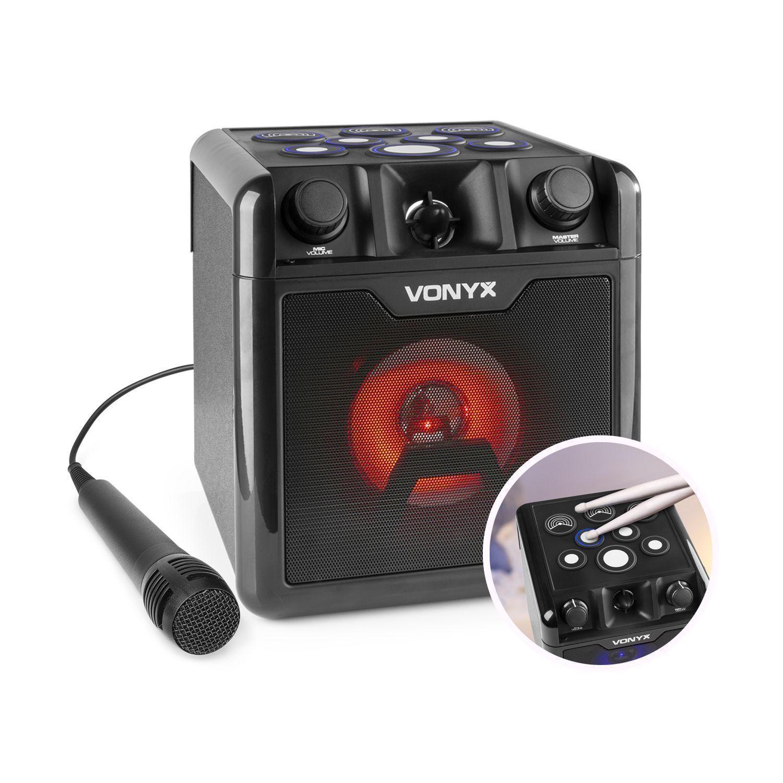 2e keus - Vonyx SBS50B-DRUM Karaoke set met microfoon, Bluetooth en