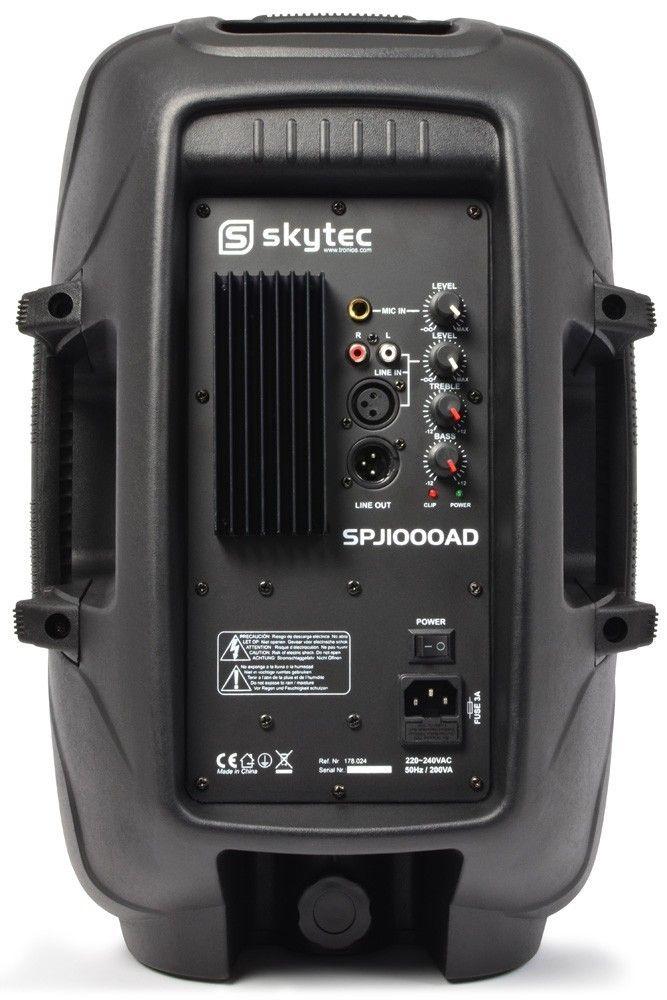"""SkyTec SPJ-1000AD actieve 10"""" speaker 400 Watt thumbnail"""