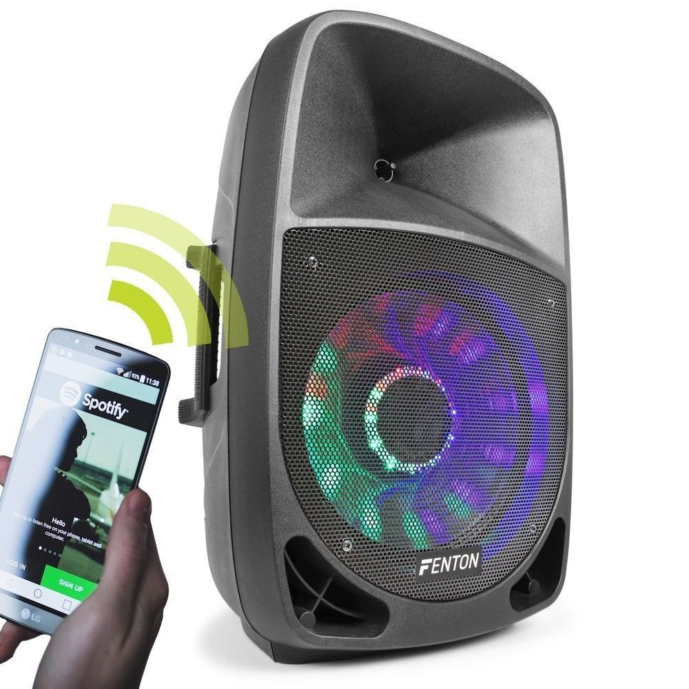 Dagaanbieding: Fenton FT1500A Actieve 350W speaker met Bluetooth en LED effect