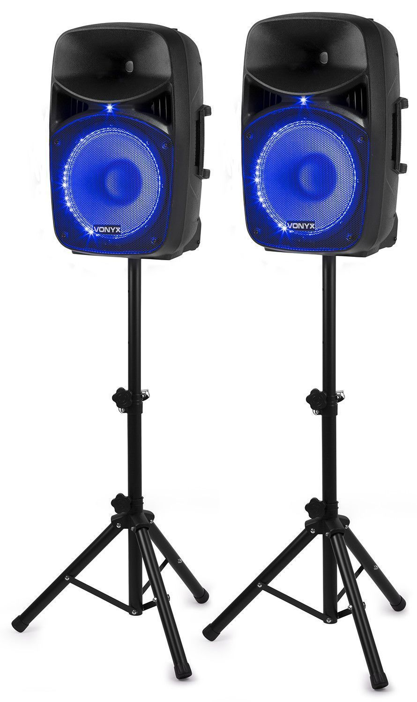 Afbeelding van 2e keus - Vonyx VPS122A geluidsinstallatie 800W met stands en LED\'s...