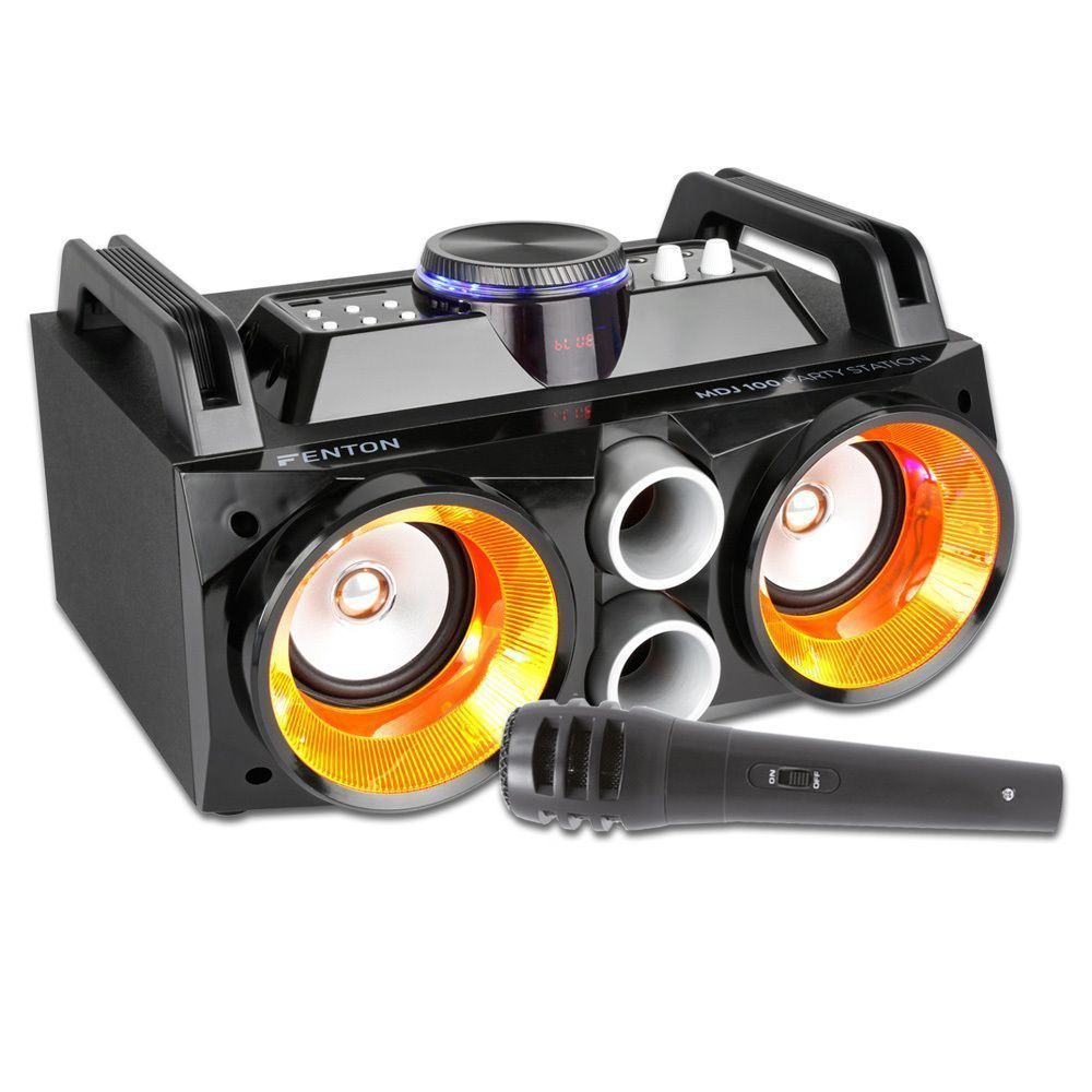 Fenton MDJ100 Bluetooth speaker 100W met ingebouwde accu