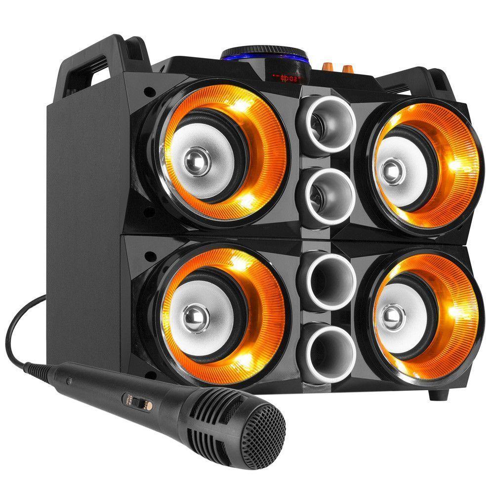 Dagaanbieding - Fenton MDJ200 karaokeset 150W op accu met Bluetooth en LED's dagelijkse koopjes