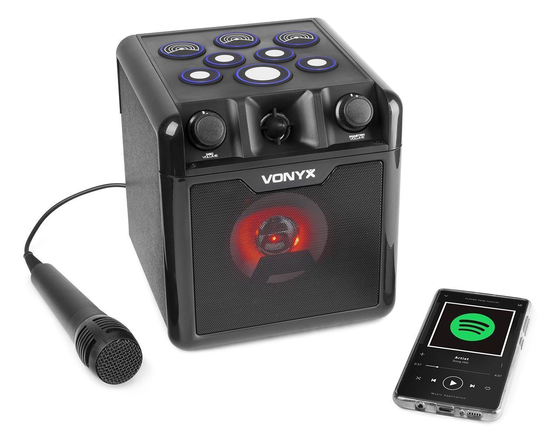 Vonyx SBS50B-DRUM Karaoke set met microfoon, Bluetooth en drumpads