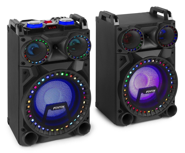 Dagaanbieding - Fenton VS10 Actieve 800W speakerset met LED Disco verlichting, Bluetooth, etc. dagelijkse koopjes