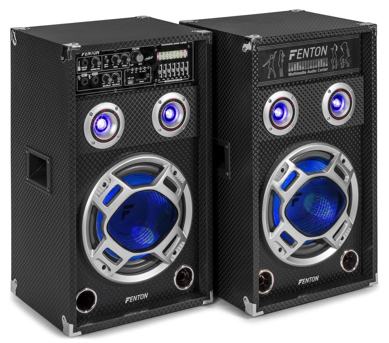 Dagaanbieding - Fenton KA-10 actieve karaoke speakerset 800W met Bluetooth en LED's dagelijkse koopjes