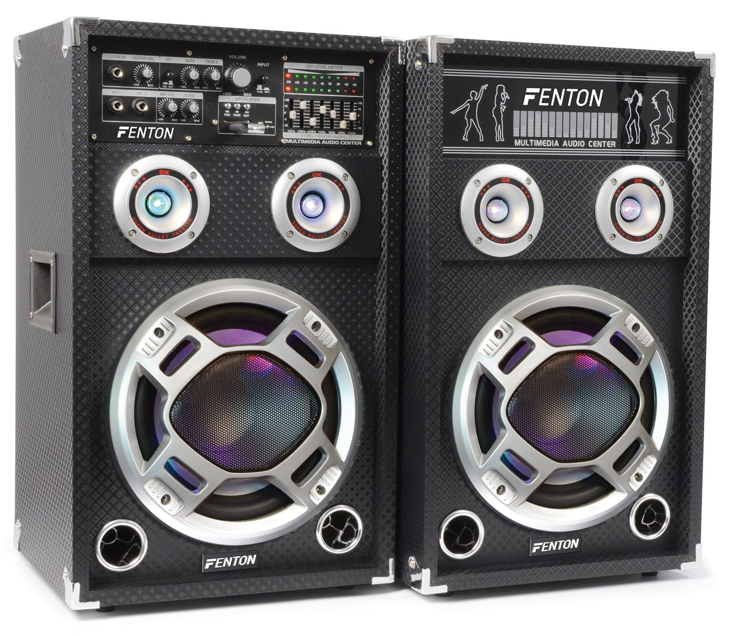Dagaanbieding: Fenton KA-10 actieve speakers 800W USB LED