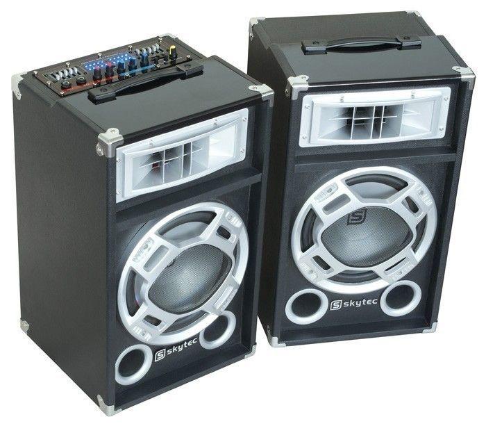 Een Skytec Spd 10 Set Actieve Pa Luidspreker Boxen 10 Inch 2 X 400w Usb Mp3 Skytec te koop aangeboden