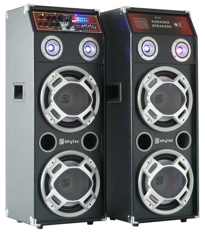 Skytec Spled600 Actieve Pa Luidspreker Set 2 X 300w Usb Mp3 Skytec kopen