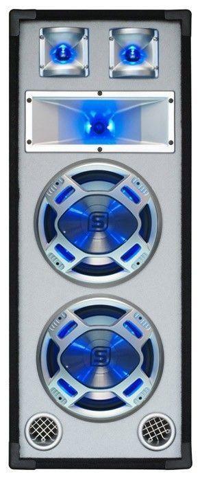 "Afbeelding van 2e keus - SkyTec PA DJ Luidspreker wit 2 x 8"" 600W met LED Disco Verli..."