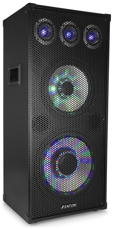 "Afbeelding van Fenton TL1012LED 3-weg speaker 900W met 12"" woofer en 10"" mid..."