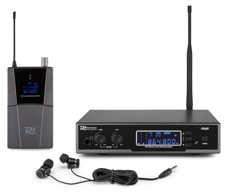 Afbeelding van 2e keus - Power Dynamics PD800 professioneel in-ear monitor systeem - ...